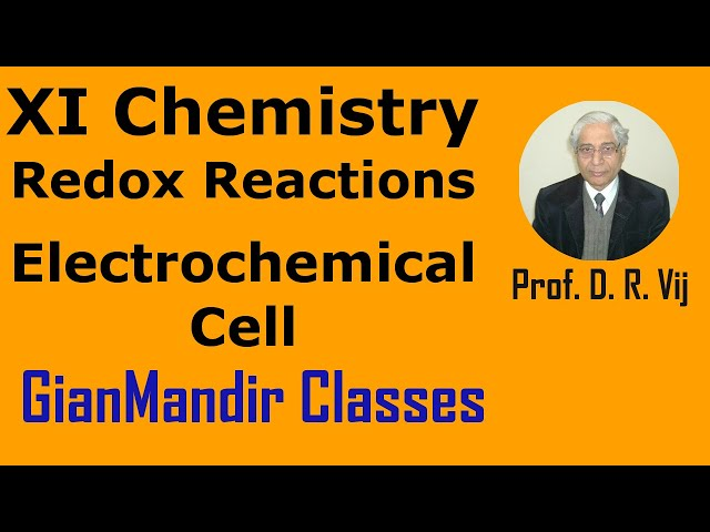 XI Chemistry - Redox Reactions - Electrochemical Cell by Ruchi Ma'am