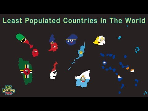 The Least Populated Countries In The World Geography for Kids
