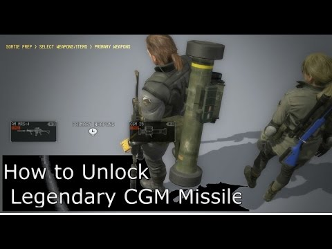 How to Unlock Cluster Guided Missile (CGM) and Killer Bee Metal Gear Solid 5 Phantom Pain