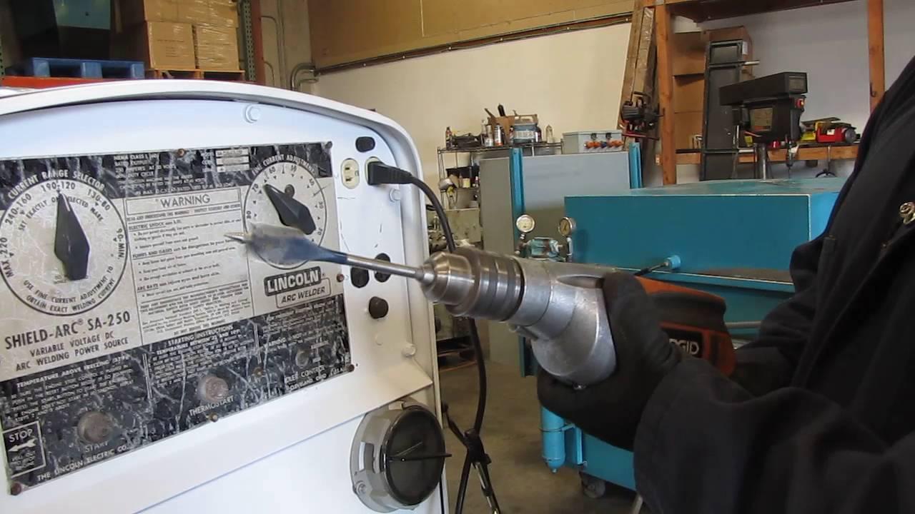 lincoln shield arc sa 250 welder trailer 250 amp perkins diesel engine generato [ 1280 x 720 Pixel ]