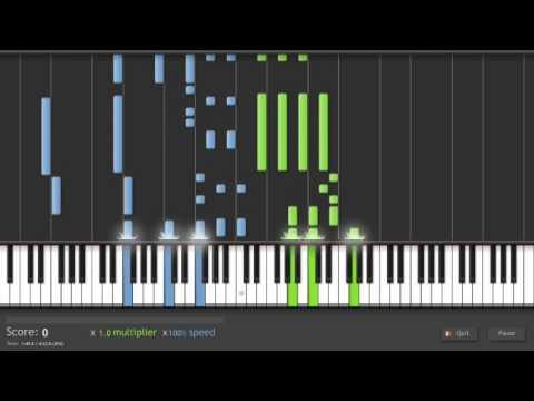(Synthesia Piano) Hishoku No Sora, from Shakugan No Shana, Arranged by jiangxinci