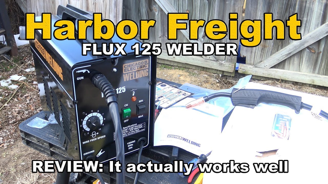 Harbor Freight Flux 125 Welder Review Youtube Mig Tig Plasma Machine Replacement Parts Item