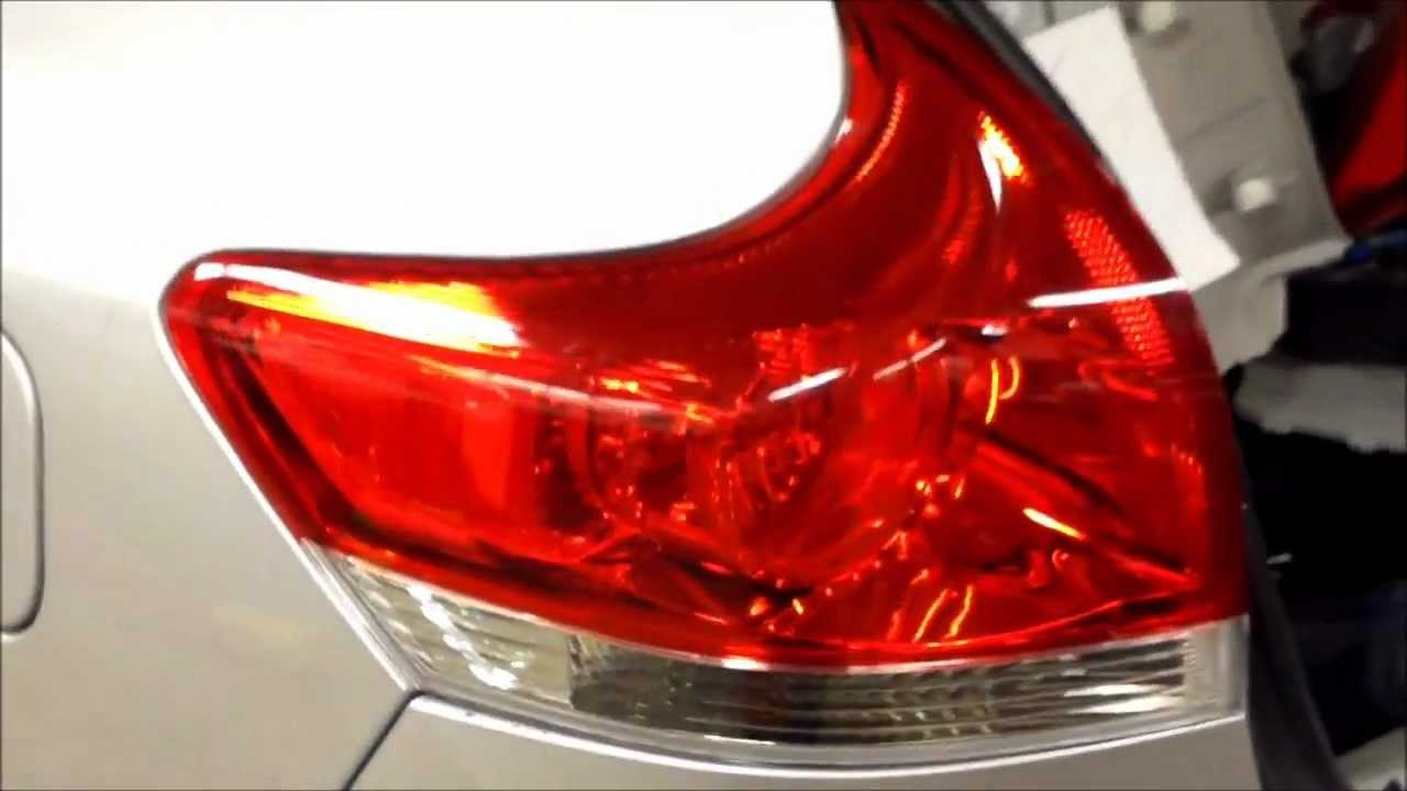 How To Replace Rear Tail Light Toyota Venza Fix It Angel