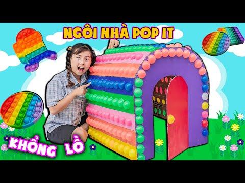 Chị Hằng Chế Tạo Ngôi Nhà POP IT Khổng Lồ ❤ KN CHENO Chị Hằng