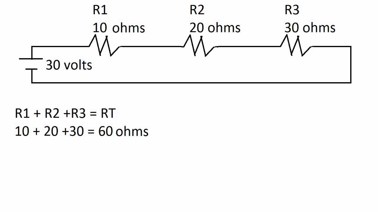 circuits in series  how to find current  and voltage of each resistor