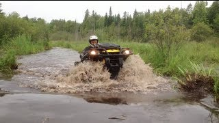 Can AM XMR650, Kawasaki Brute, and  RZR in some really deep mud and water!  PowerModz!