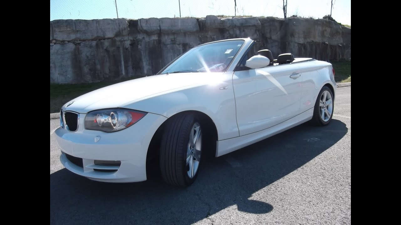 SOLD!! 2008 BMW 128I CONVERTIBLE 58K 3.0 V-6 WHITE BLACK TOP AT FORD ...