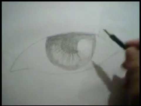 Làm thế nào để vẽ mắt bằng bút chì màu đen