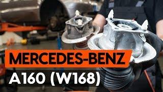 Instalace přední a zadní Čelisti ruční brzdy MERCEDES-BENZ A-CLASS: video příručky