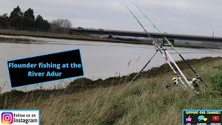 Searching for a winter Flounder on the river Adur