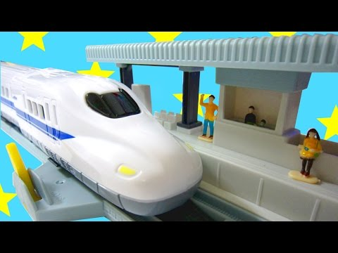 Japanese Electric Bullet Train! Shinkansen N700 Series | Daiso Japan Kids Toys Setup & Review