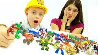 SCONTRO FINALE TRA MEGANTIK E MARVEL HEROES - giochi da bambini - video divertenti per ragazzi!