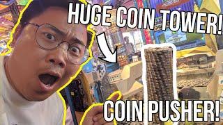 WATCH THE COIN TOWER FALL! - Arcade Ninja