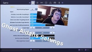 Trying Ghost Aidans Settings For The First Time!!!!  Fortnite 