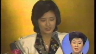 森光子さん司会「三時のあなた」 百恵友和さん婚約会見(1)