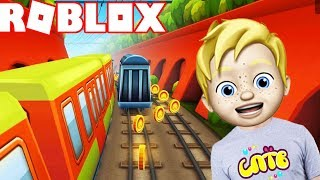 I found a new Subway Surfers in ROBLOX! Escape from the police SPTV gaming cartoon for children