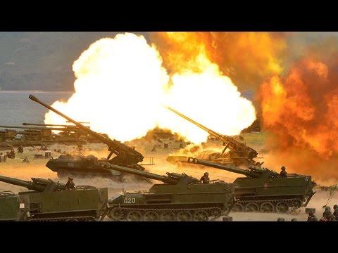 Corea del Norte muestra su poder militar con un fuego real de artillería ante Kim Jong-un