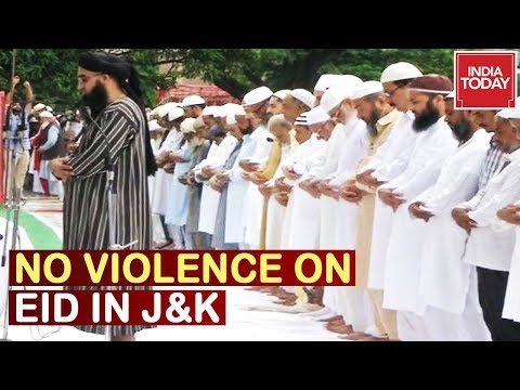Eid In Valley : MHA Confirms No Eid Violence In Kashmir, Prayers Offered Peacefully Across