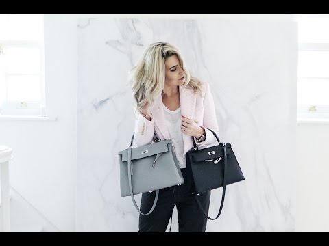 HERMES KELLY 32 Vs KELLY 28   HOW TO DRESS YOUR HERMES BAG   IAM CHOUQUETTE