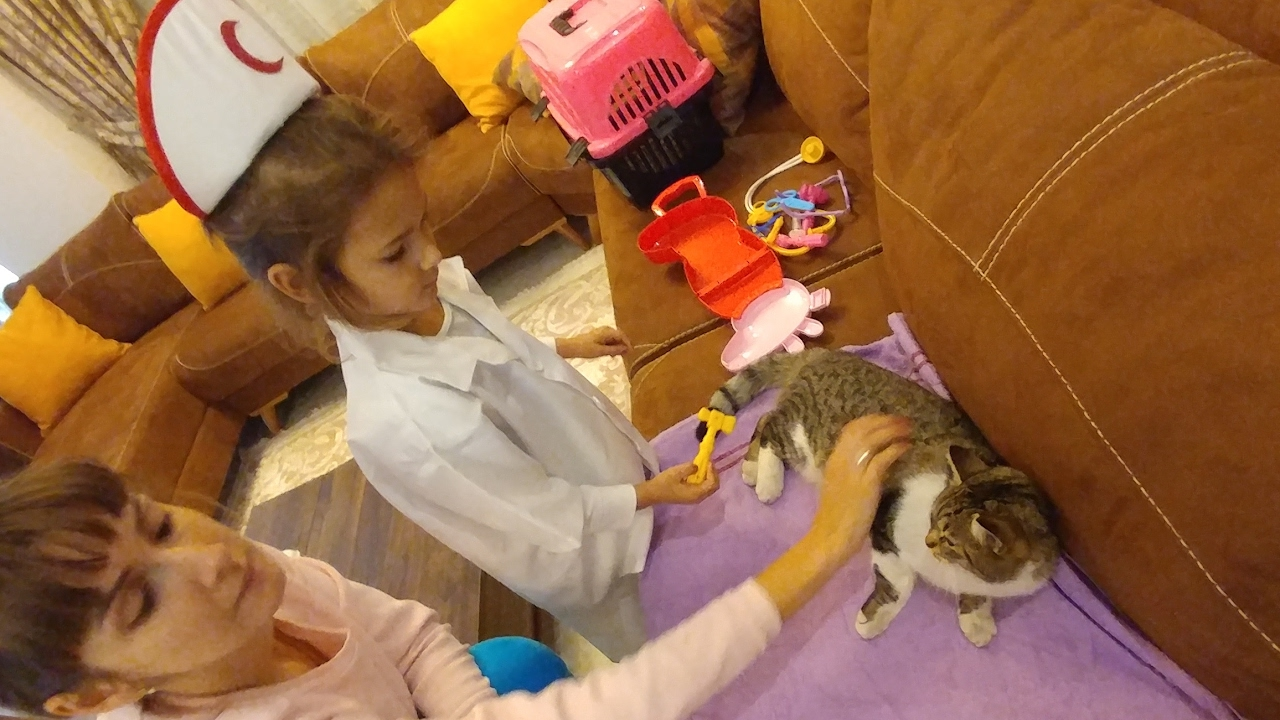 Elif veteriner oldu, eğlenceli çocuk videosu
