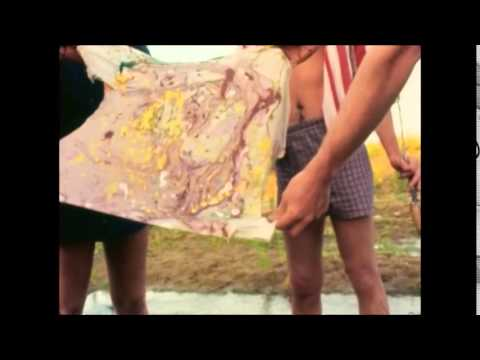 The Actual Invention of Tie Dye by Hippies on Acid was Actually Caught on Film in 1964