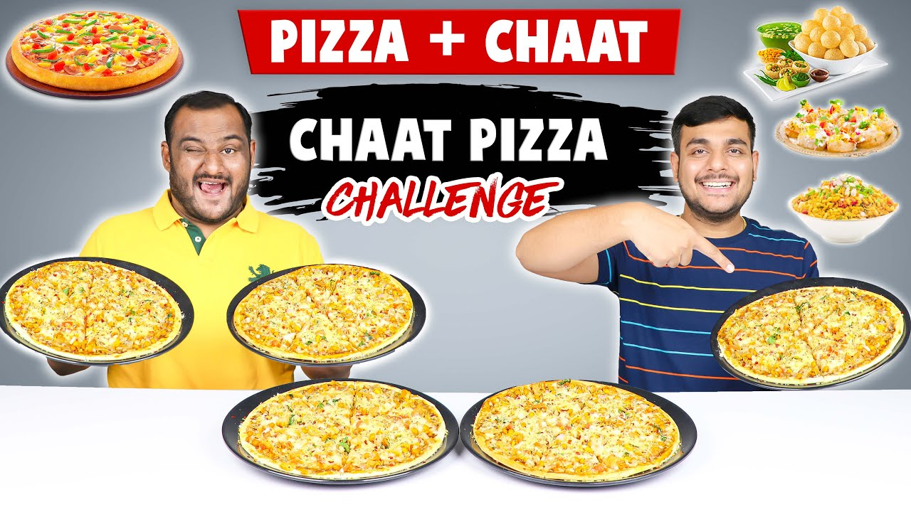 CHAAT PIZZA EATING CHALLENGE | Chaat Challenge | Pizza Challenge | Food Challenge | Viwa Food World