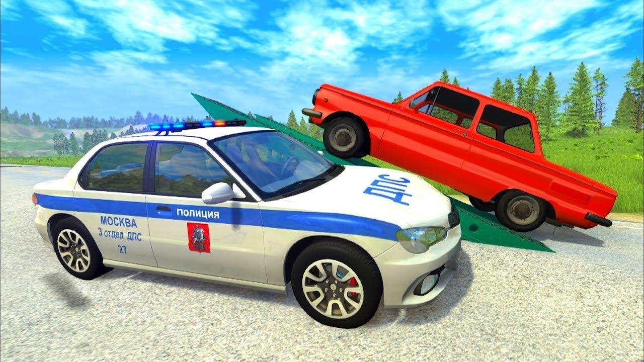 Мультики про машинки - Полицейские автомобили плохие дороги и правила дорожного движения.