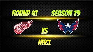 Roblox HHCL Season 19 Round 41 Detriot Red Wings vs Washington Captials| HHCL Gameplay Highlights!
