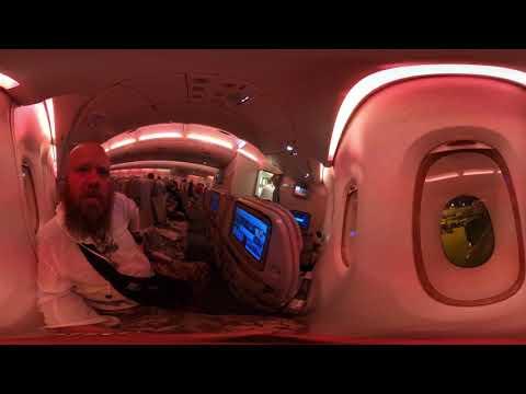 Koronowirus z Wuhan lot z Singaura pustym samolotem do Dubai 360 gopro Max