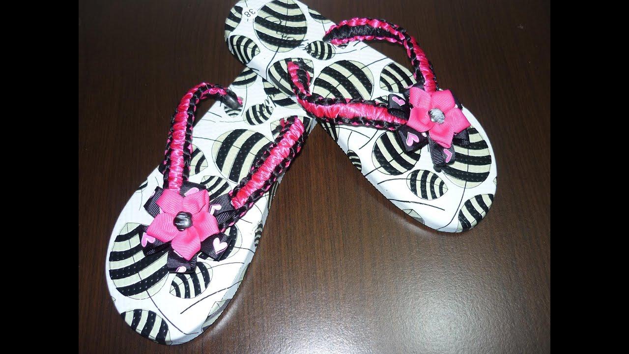 como decorar unas sandalias f cilmente en macrame teji