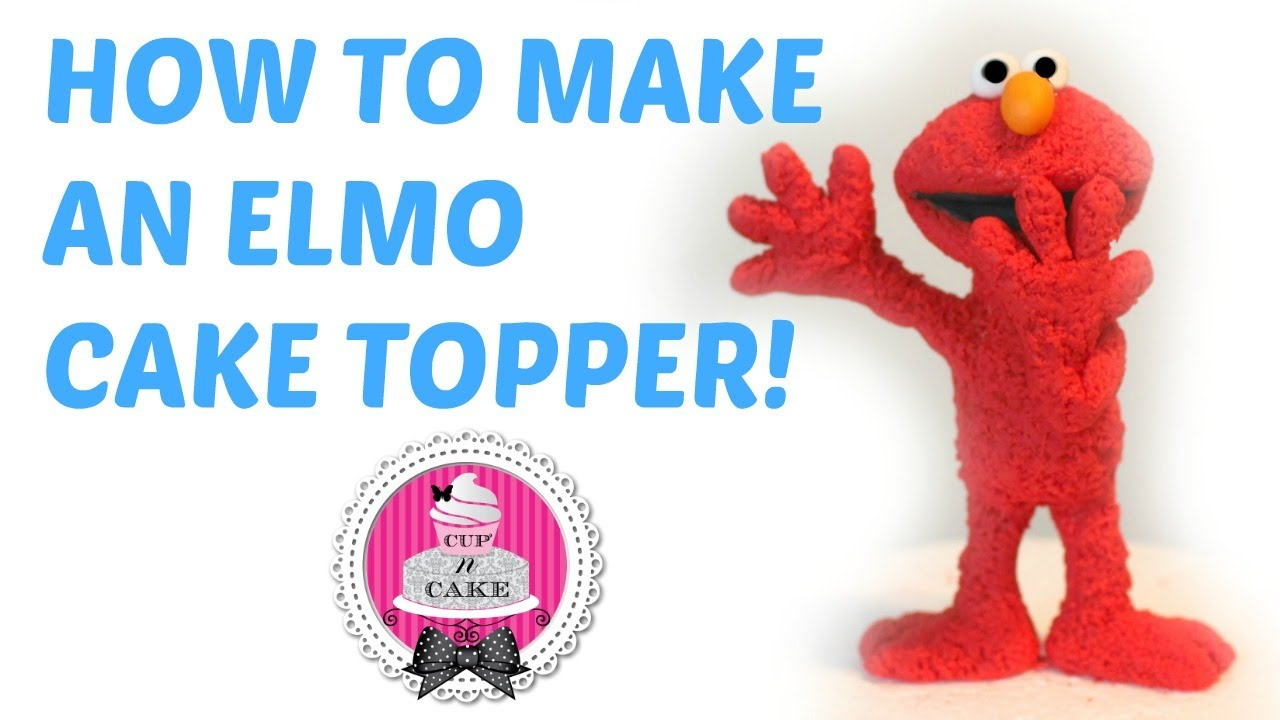 How To Make An Elmo Cake Topper Out Of Fondant
