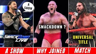 Roman Reigns Made Smackdown 'A SHOW' ! Universal Title Challenger REVEALED ? Why Lars On Smackdown ?