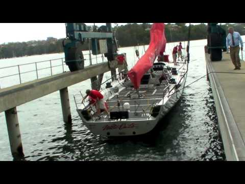 """2012 Wild Oats XI s New """"Go-Fast"""" Underwater Configuration."""