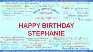 Stephanie   Languages Idiomas - Happy Birthday