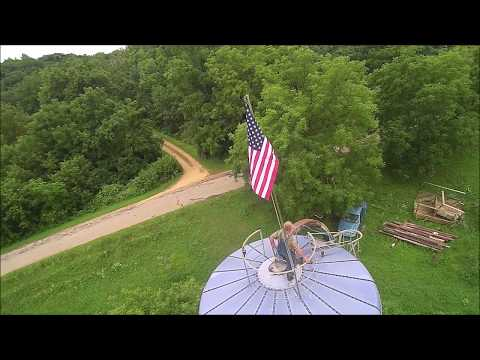 .USA. Changing of the flag Star spangled banner of America