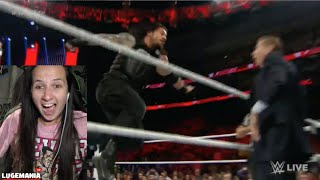 WWE Raw 12/14/15 Roman Reigns vs Sheamus