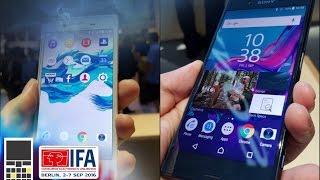 Новые смартфоны от Sony - XZ и X Compact - IFA 2016