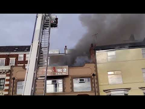 Harry Ramsdens Restaurant In Scarborough On Fire Today.