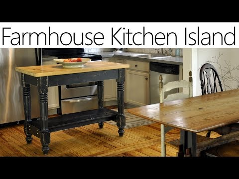 Beautiful DIY Farmhouse Kitchen Island for only $25