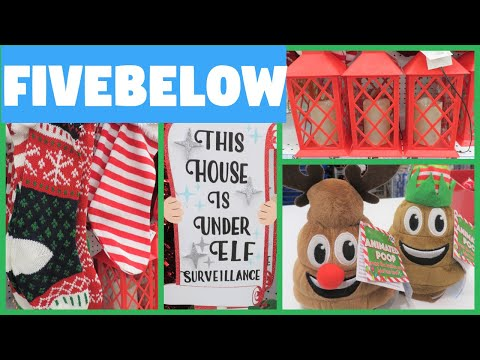 FIVE BELOW Christmas Shop with Me!