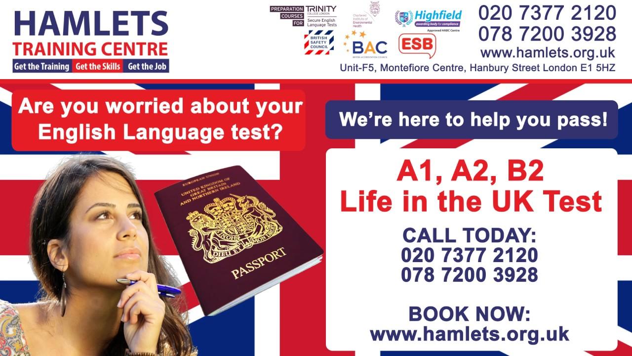 B1 English Language Test for British Citizenship