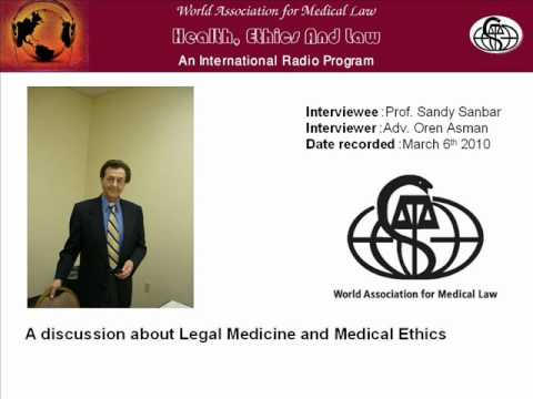 Legal Medicine and Medical Law - A conceptual interview