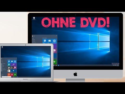 Windows 10 Installation auf iMac, MacBook Air usw. mit Boot Camp, ohne CD / DVD, Tutorial