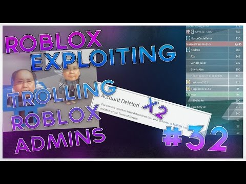 ADMIN NOT BANNING ME?! I Trolling Roblox admins I Roblox Exploiting #32
