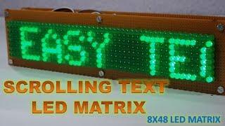 Scrolling Text Led Display | 8X48 led matrix