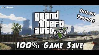 HOW TO GET A 100% SAVEGAME GTA V PC !!!