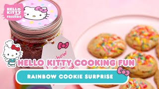 Rainbow Cookie Surprise Featuring My Life As x Hello Kitty Bakery Set | Hello Kitty Cooking Fun