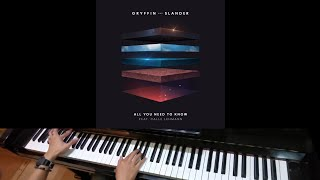 Gryffin &amp Slander ft Calle Lehmann - All You Need To Know (Jarel Gomes Piano)