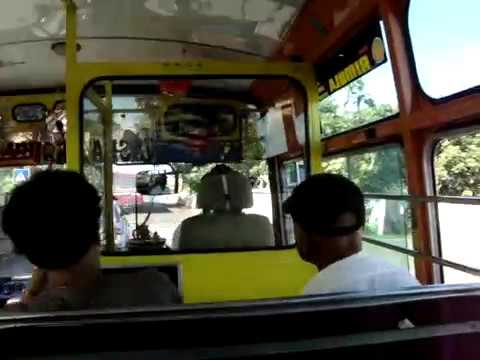 in the city bus in Mauritius