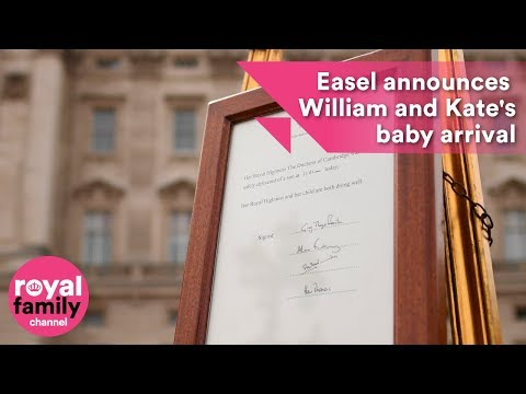 Easel announces Prince William and Kate's royal baby arrival